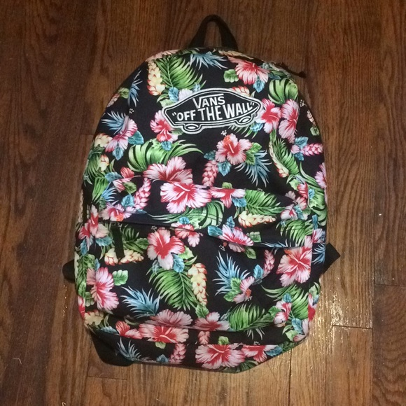9625827575 Vans realm Hawaiian black backpack. M 5b0ed38f2c705dffad676a5f